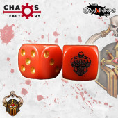 Set of 2d6 Evil Warrior Dice - Chaos Factory