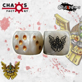 Set of 2d6 Dwarf Dice - Chaos Factory