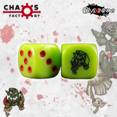 Set of 2d6 Orc Dice - Chaos Factory