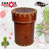 Wood Elf Leather Dice Cup with Lid - Chaos Factory