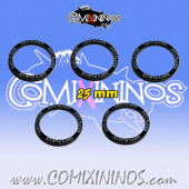 Set of 5 Dirty Player Skill Rings for 25 mm Bases - Comixininos