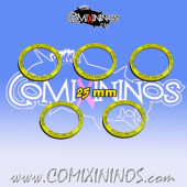 Set of 5 Diving Catch Skill Rings for 25 mm Bases - Comixininos