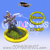 Set of 5 Diving Catch Skill Rings for 32 mm Bases - Comixininos