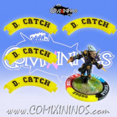 Set of 4 Yellow Diving Catch Puzzle Skills for 32 mm Bases - Comixininos