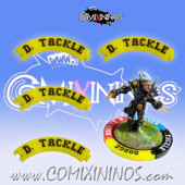 Set of 4 Yellow Diving Tackle Puzzle Skills for 32 mm Bases - Comixininos