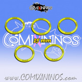 Set of 5 Dodge Skill Rings for 25 mm Bases - Comixininos