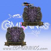 Double Sided Prone / Stunned Token for Big Guy Frogmen - SP Miniaturas