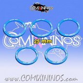 Set of 5 Dump Off Skill Rings for 25 mm Bases - Comixininos