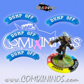 Set of 4 Blue Dump Off Puzzle Skills for 32 mm Bases - Comixininos