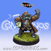 Dwarves - Dwarf Coach Manager - Willy Miniatures