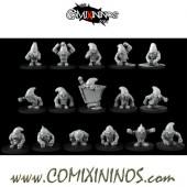 Dwarf - Dwarf Miners Team of 16 Players - Games Miniatures
