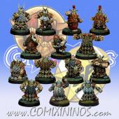 Dwarves - Dwarf Team of 14 Players - SP Miniaturas