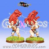 Dwarves - Shield Maidens Dwarf Ladies Troll Slayer Set of 2 – Warlord Games