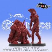 Necromantic / Undead - Set of 2 Dwarf and Wood Elf Zombies - SP Miniaturas
