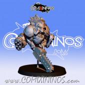 Dwarves - Metal Dwarf  with Chainsaw - Fanath Art