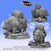 Dwarves - Dwarf Pig Ambulance - Scibor Miniatures