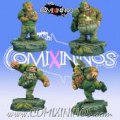 Dwarves - Set of 4 Dwarf Players - Scibor Miniatures