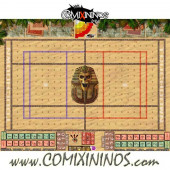 29 mm Egyptian Tomb Kings Plastic Gaming Mat with BB7 and Parallel Dugouts - Comixininos