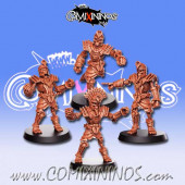 Egyptian - Set of 4 Ancestrals Egyptian Skeletons - RN Estudio