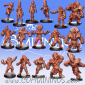 Egyptian Tomb Kings - 3D Printed Ancestrals Team of 16 Players - RN Estudio