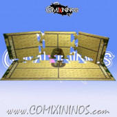 34 mm Egyptian Tomb Kings Puzzle-like Joint Hard Cardboard NO Dugout - Comixininos