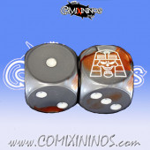 Set of 2d6 Egyptian Tomb Kings Dice - Willy