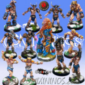 Norses - Norse Team of 12 Players with Snow Troll - Mano di Porco