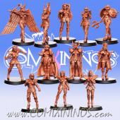 Amazons - Zodiac Team of 12 Players - RN Estudio
