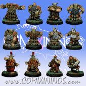 Dwarves - Basic Dwarf Team of 12 Players - SP Miniaturas