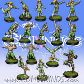 Wood Elves - Cabiri Team of 16 Players without Treeman - MK1881