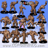 Undead / Necromantic - Mold Casted Eternals Dead Team of 16 Players - RN Estudio