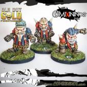 Evil Dwarves - Set A of 3 Evil Dwarfs of Old but Gold Team - Labmasu