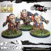 Evil Dwarves - Set B of 3 Evil Dwarfs of Old but Gold Team - Labmasu