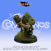Evil Dwarves - Grim Butchers Evil Dwarf Bomber Bunderbluss Star Player - Goblin Guild