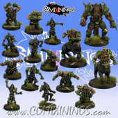Evil Dwarves - Grim Butchers Complete team of 15 Players with Minotaur - Goblin Guild