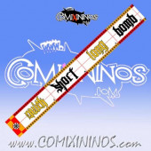 34 mm Evil Pact Range Ruler 1 mm Thick - Yellow and Red