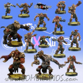 Evil Pact - Skull Devils Team of 16 Players with 3 Big Guys - Goblin Guild