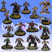 Evil Pact - Team of 15 Players with 3 Big Guys - Willy Miniatures