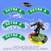 Set of 4 Green Extra Arms Puzzle Skills for 32 mm Bases - Comixininos