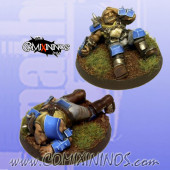 Set of 2 Prone / Stunned Ogre Tokens - Fanath Art
