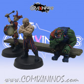 Set B of 3 Fantasy Football Fans with Bench - Mystery Studio