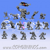 Frogmen - Complete Frogmen Team of 16 Players with Big Guy - Fanath Art