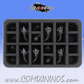 Foam Tray for GW Gwaca'moli Crater Gators Lizardmen Team - Feldherr
