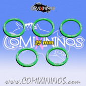 Set of 5 Foul Appearance Skill Rings for 25 mm Bases - Comixininos