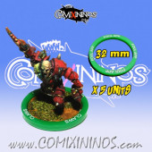 Set of 5 Foul Appearance Skill Rings for 32 mm Bases - Comixininos
