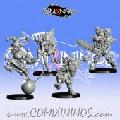 Goblins / Underworld - Set of 4 GobFreak Clowns Special Weapons - Games Miniatures