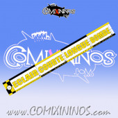 29 mm Range Ruler 1 mm Thick - Yellow and Black - French