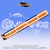 29 mm Range Ruler 1 mm Thick - Orange and Black - French