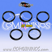 Set of 5 Frenzy Skill Rings for 25 mm Bases - Comixininos