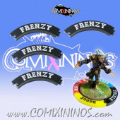 Set of 4 Black Frenzy Puzzle Skills for 32 mm GW Bases - Comixininos